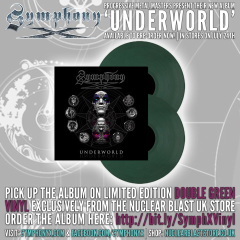 Symphony X Underworld_GREEN VINYL